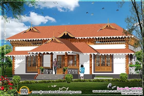 1600 square feet Kerala style house plan