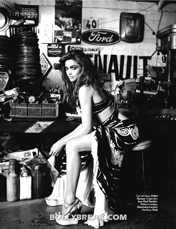 Deepika Padukone Hot Legs Pic - (2) - Deepika Padukone Hot Vogue Photoshoot Pics