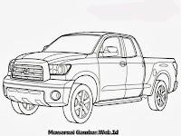 Gambar Mewarnai Mobil Bak Terbuka Toyota Tundra