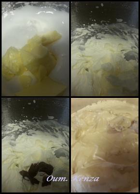 طريقة عمل كريمة الزبدة لتزيين الكيك بالصور المشروحة