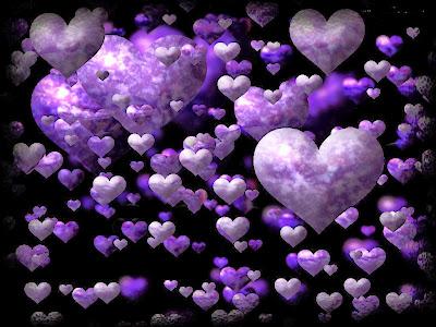 Floating Hearts Violet Love