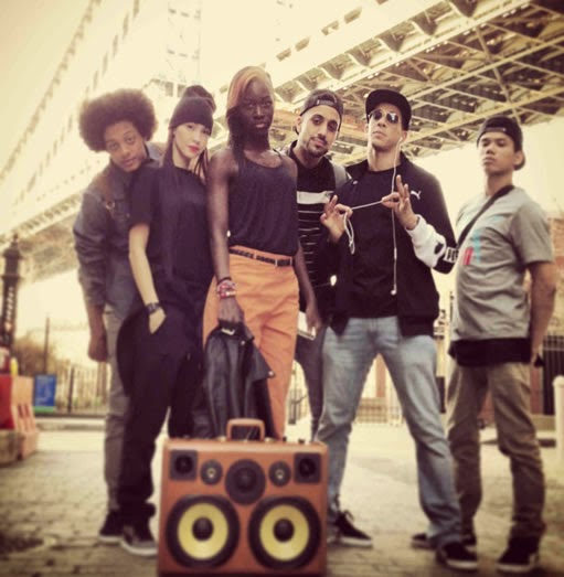 Boombox and break dance group
