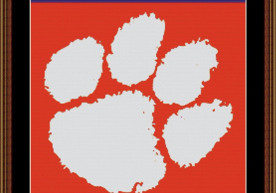 Ncaa Sports Outlet Clemson Cross Stitch Pattern