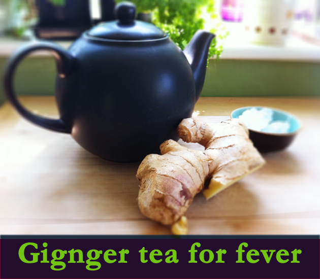 ginger with lemon and honey for fever as home remedy