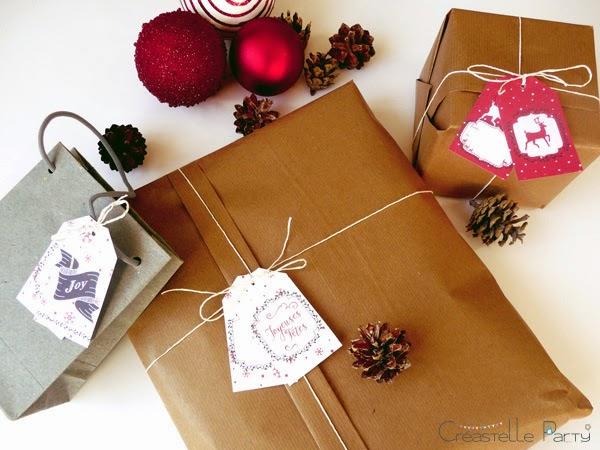 Créastelle Party - free Christmas label
