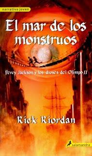Percy Jackson y el mar de los monstruos de Rick Riordan
