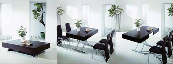 Artetecta praticidade mesa de centro que se transforma em mesa de jantar - Mesas de centro que se elevan ...