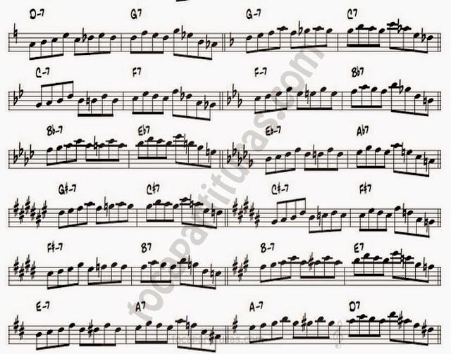 12A serie enorme de II-V-I transcriptas sobre solos de John Coltrane.serie enorme de II-V-I transcriptas sobre solos de John Coltrane