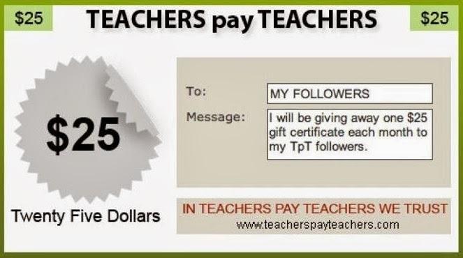An Apple For The Teacher: Monthly Teachers Pay Teachers $25 Gift ...