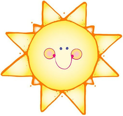 Desenho de Sol colorido