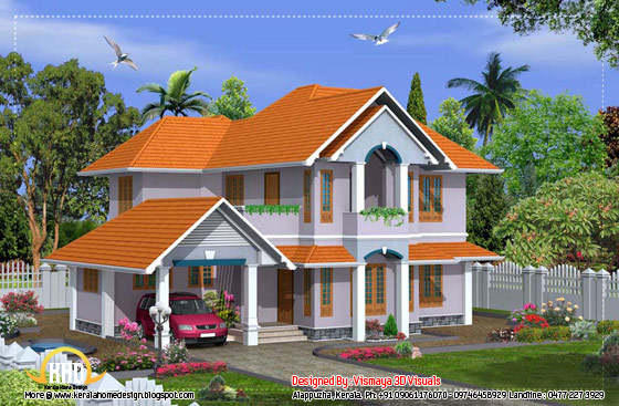 Beautiful Kerala home design - 2380 Sq. Ft. - April 2012