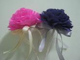 Bunga Telur/Bunga Pahar Crepe Paper