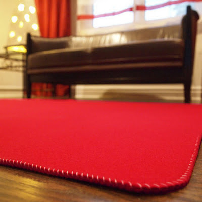 Wool felt and winter the felt store - How to make a wool accent rug work for your space ...
