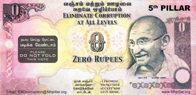 фото Купюра ноль рупий