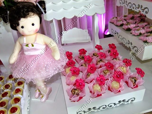 Decoração de festa infantil Bonecas Bailarinas