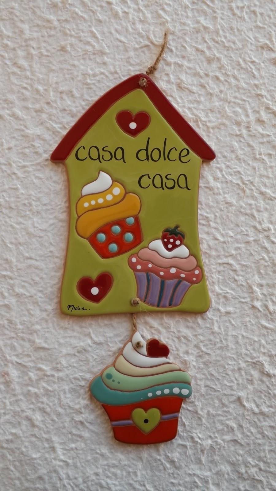 Ceramica come mestiere fuoriporta casa dolce casa in ceramica smaltata cuerda seca - Casa dolce casa ceramiche ...