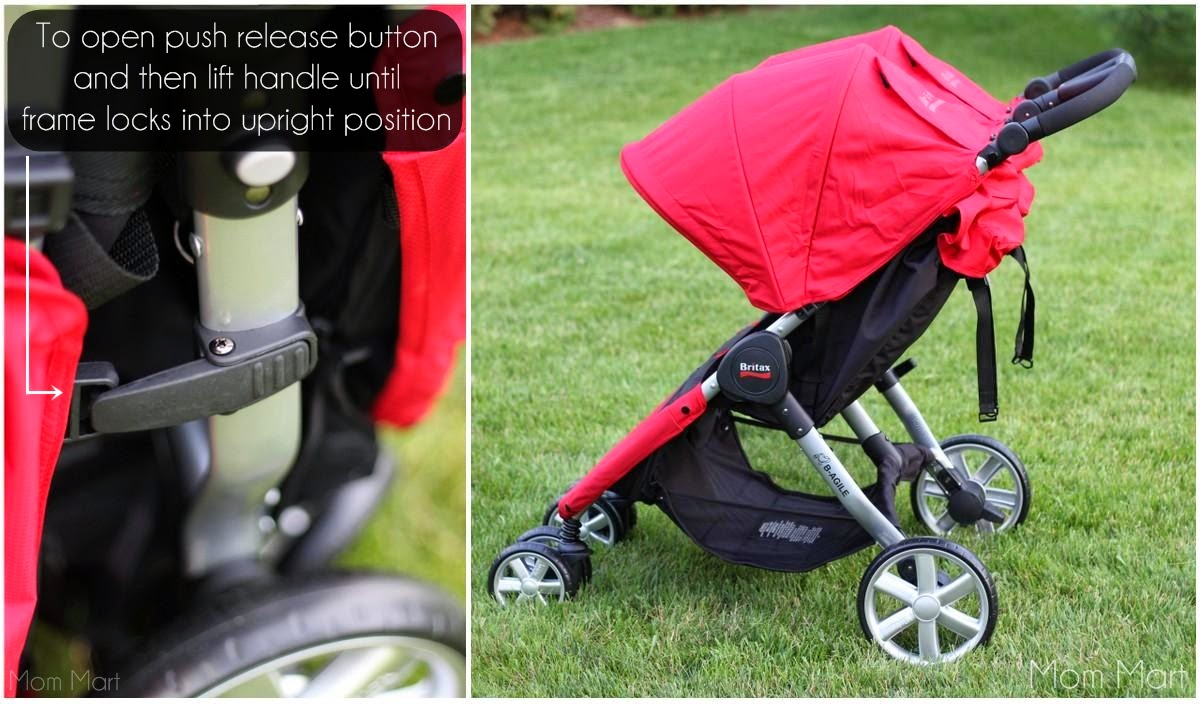 Britax BAgile Double Stroller Review opening the stroller