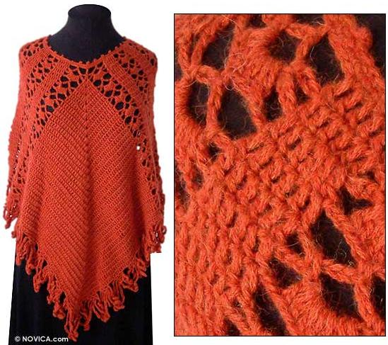 Knitting Pattern Central   Free Lace Ponchos And Shrugs Knitting