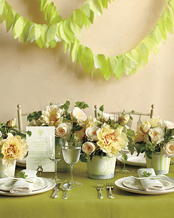 Wedding Decor Templates Pictures Courtesy of Martha Stewart