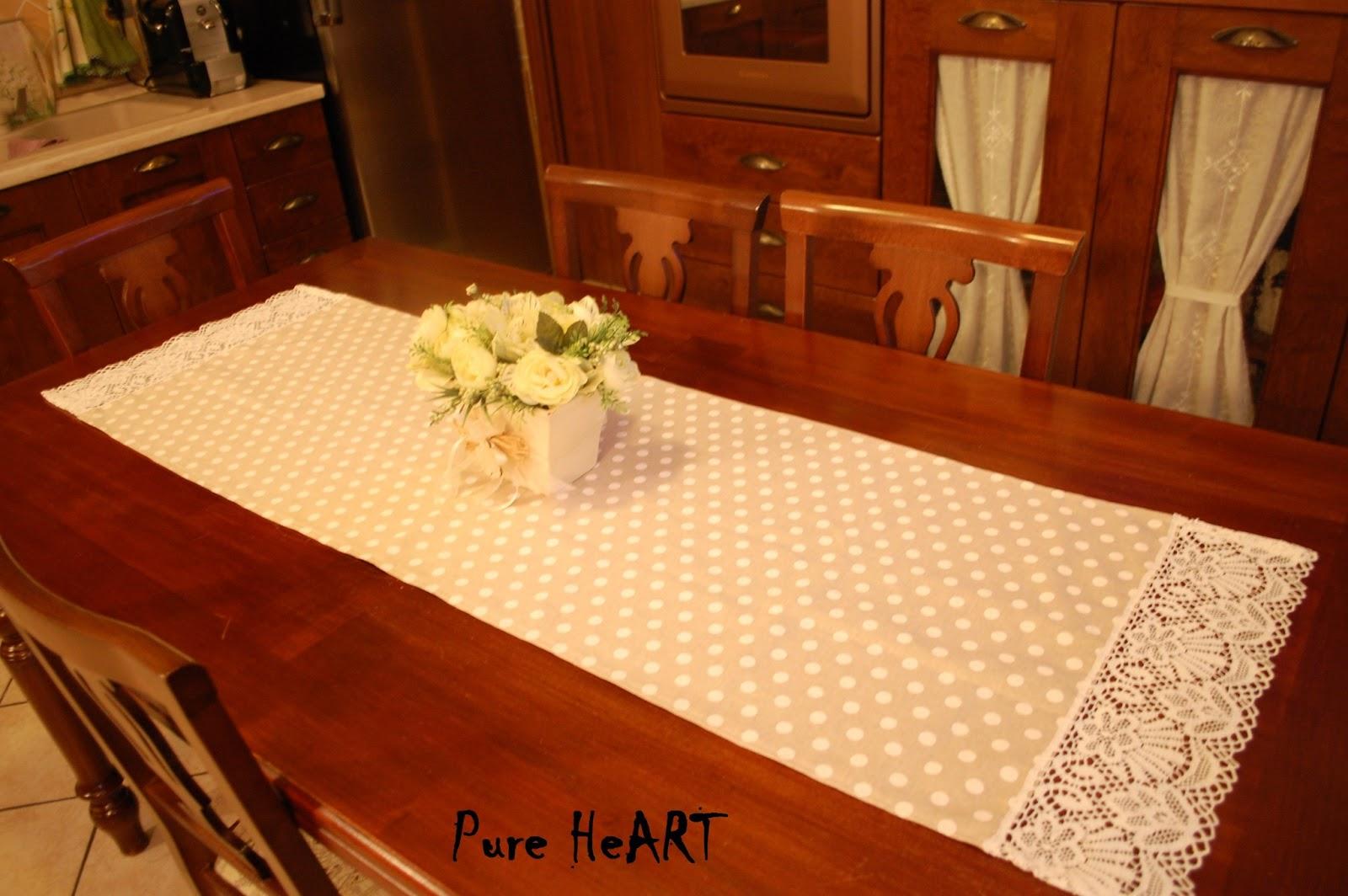 Pure heart di francesca pugliese runner da tavola country e shabby - Runner da tavolo ...