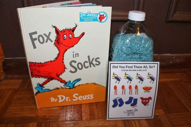 Fox in Socks Search and Find Game in a Bottle  via www.happybirthdayauthor.com