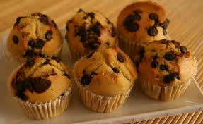 muffin chocolate chip coffee