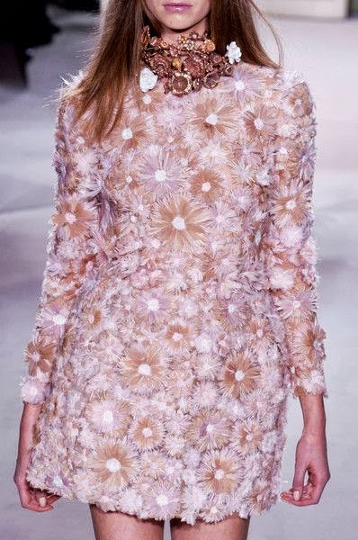 runway details: Giambattista Valli Spring 2013 floral dress