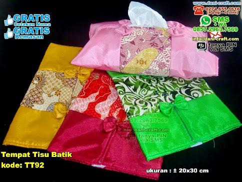 Tempat Tisu Batik Kain Habutay Batik