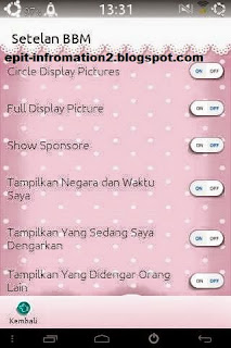 BBM Mod WTF Cute and Simple v2.8