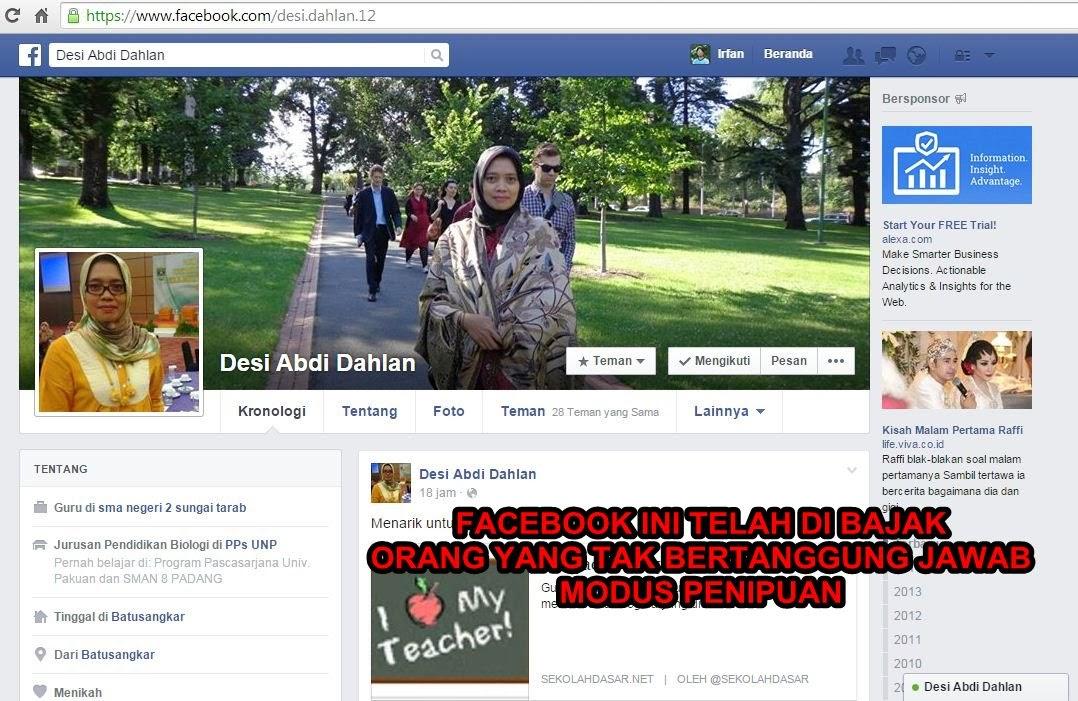 Penipuan Online via Facebook, Pinjam Uang, Kirim ke ...