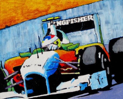 formula 1 | painting | hulkenberg