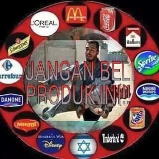 tidak bisa bantu saudara dibumi jihad, minimal jangan beli produk ini