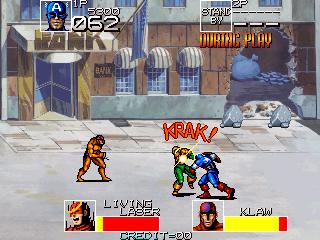 Capitán América and The Avengers arcade videojuego descargar gratis vieja escuela + MAME portable