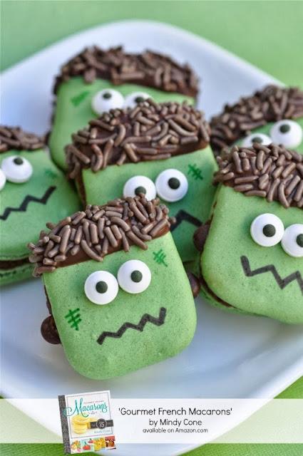 It's Halloweek! Frankenstein party macarons
