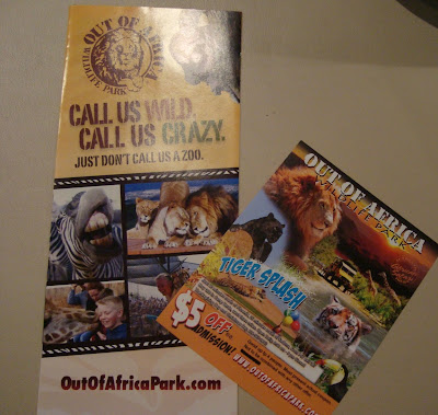 Out of africa wildlife park coupons