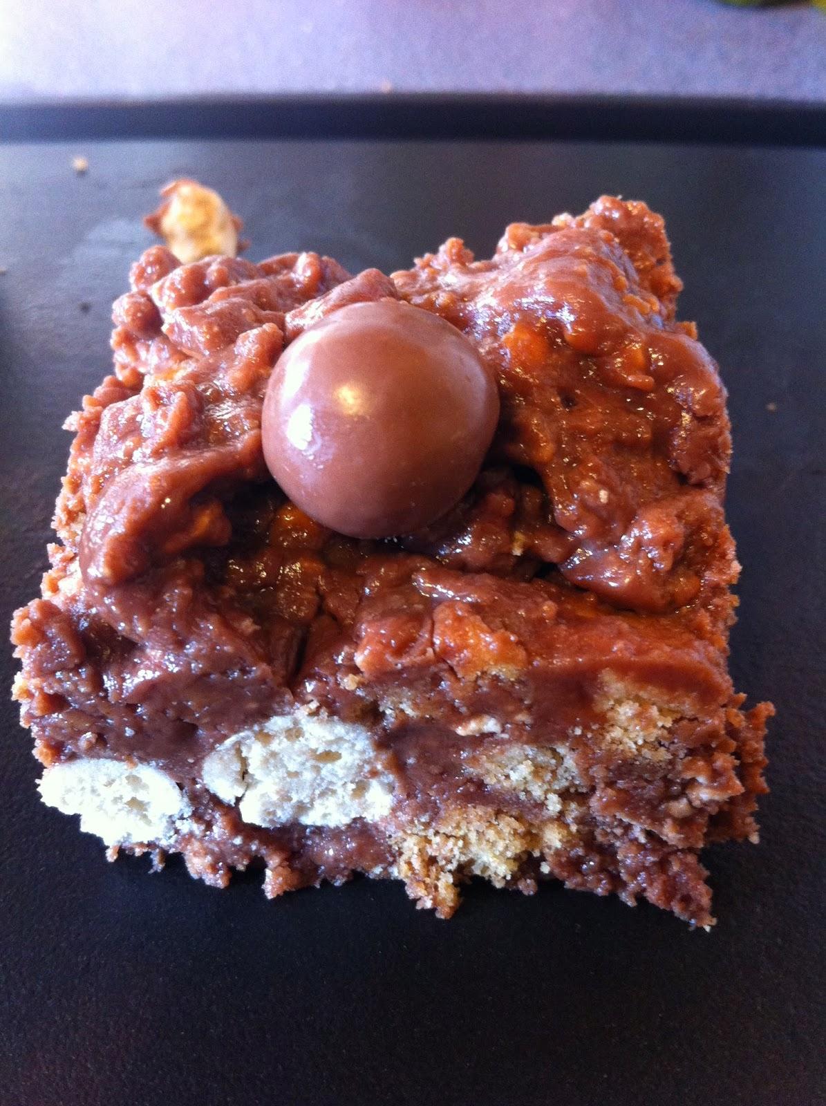 A square of malteser cake