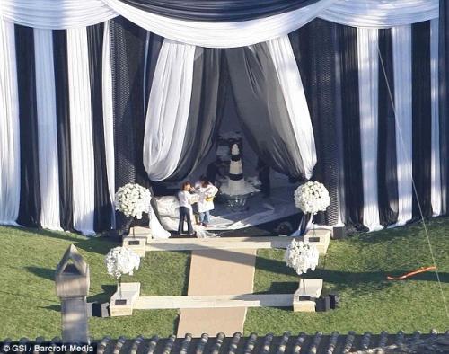 decoração do casamento de Kim Kardashian
