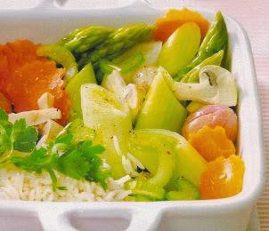 Receta Verduras saludables con arroz
