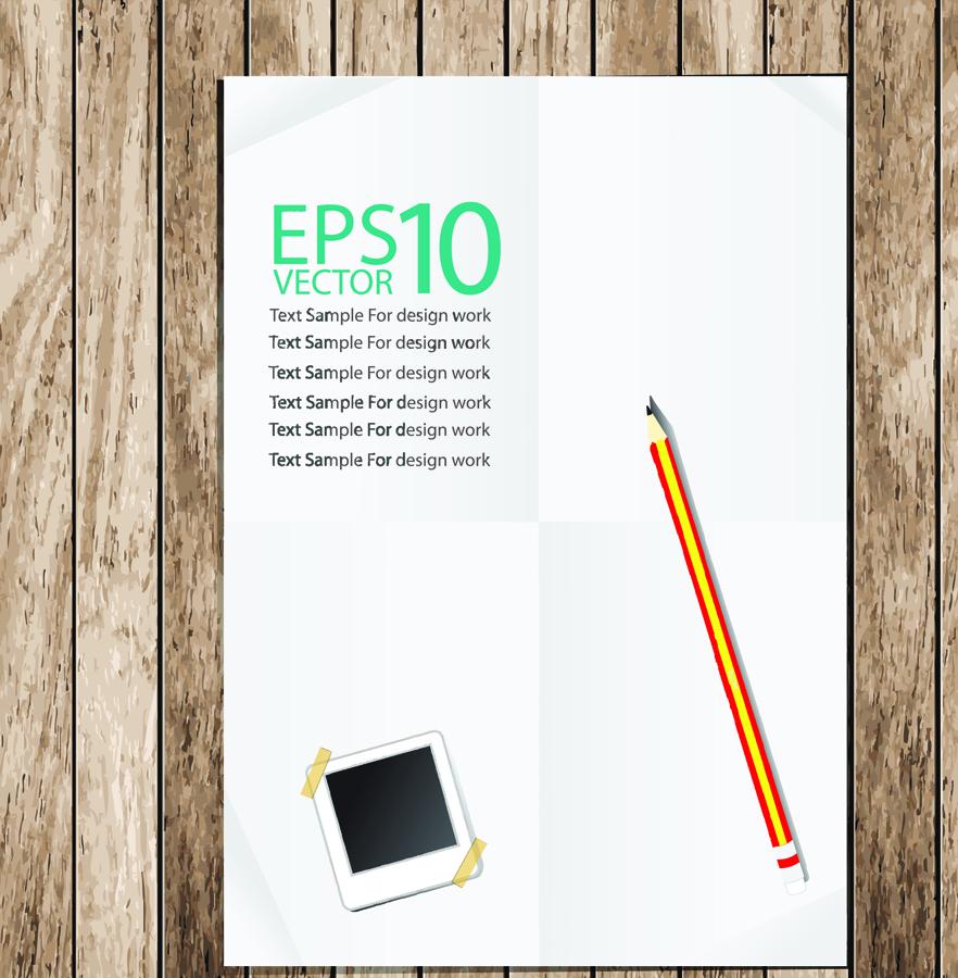 木製テーブルに置かれたノート notebook background イラスト素材