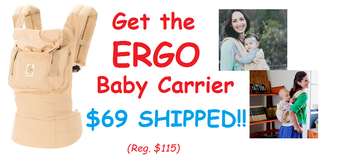 Get The ERGO Original Carrier for $69 SHIPPED!! (Reg. $115) -- PLUS 40% Off Other ERGObaby Carriers & Inserts
