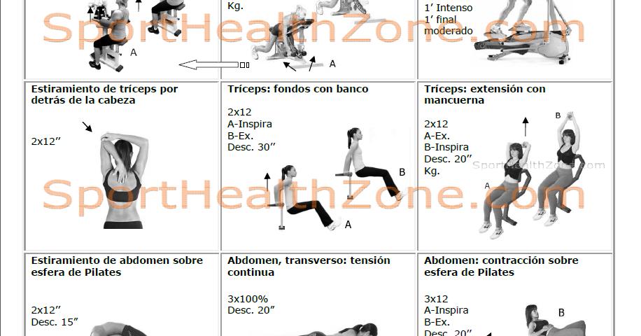 Rutinas de gimnasio rutinas fitness for Rutina fitness