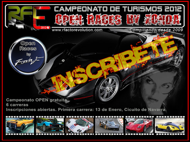 Carrera online Zonda rFactor