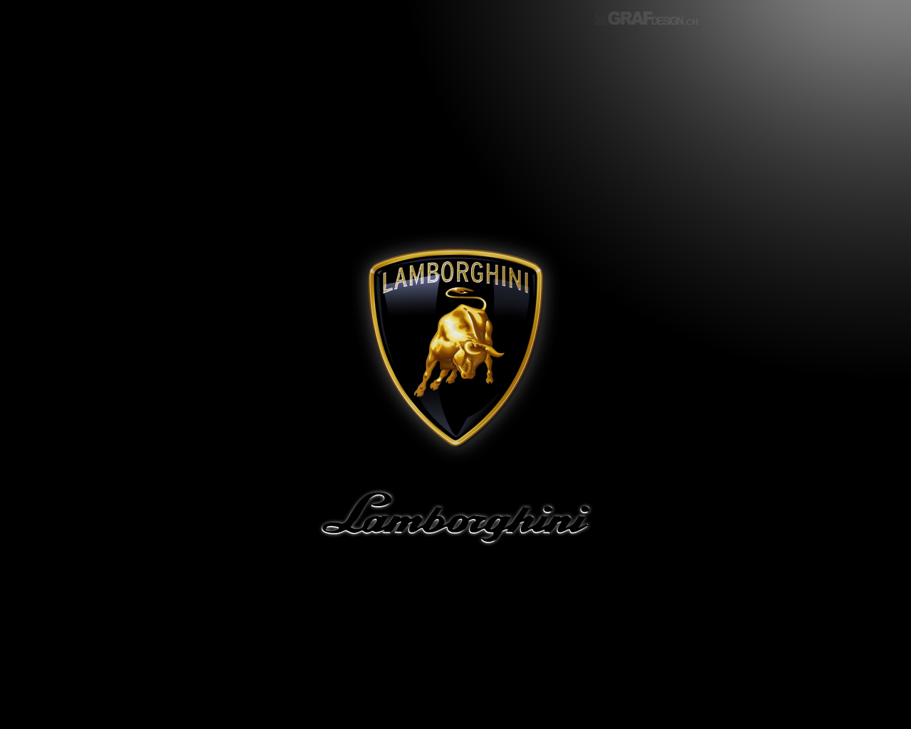 Black Logo Lamborghini Wallpaper