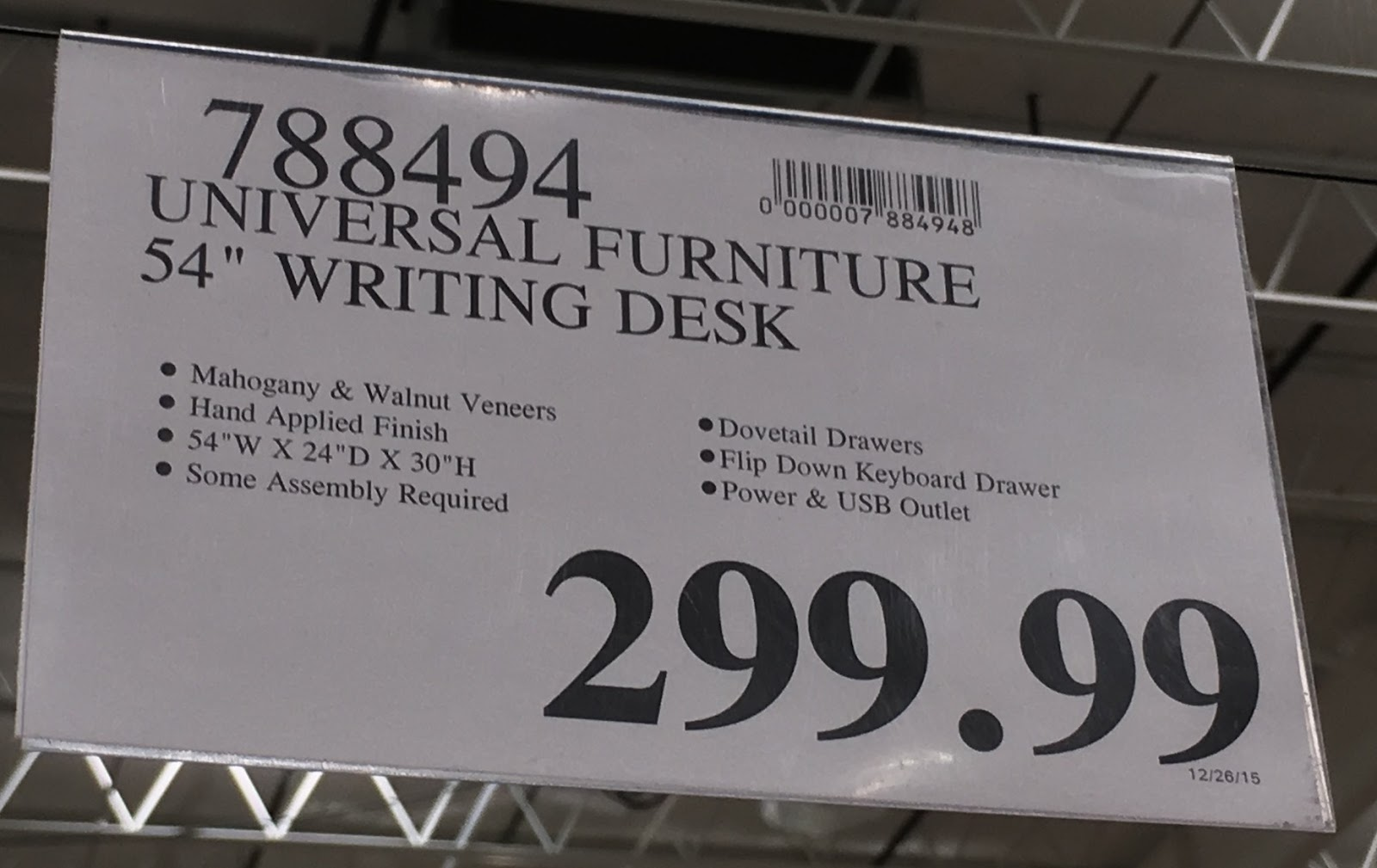 Deal For The Universal Furniture Broadmoore Writing Desk At Costco