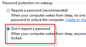 disable automatic lock in Windows 7.