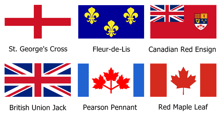 Canadian Flags Over The Years Public Domain Canadian Flag