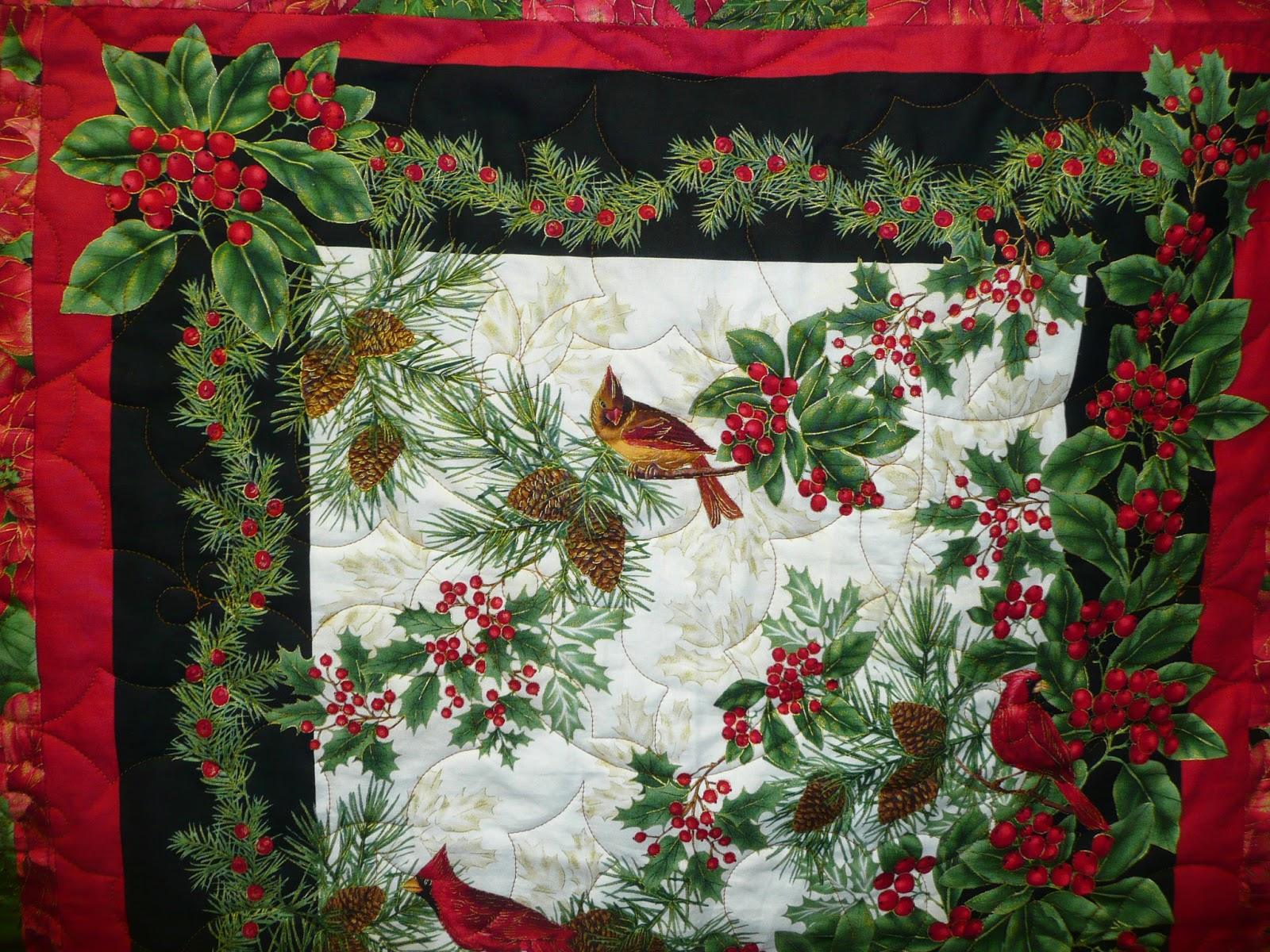Acorn Ridge Quilting: Joyce's Christmas Panel Quilt : christmas quilt panels - Adamdwight.com