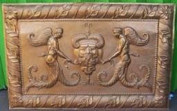 Relief Malaikat Tembaga Ukir 103 x 66