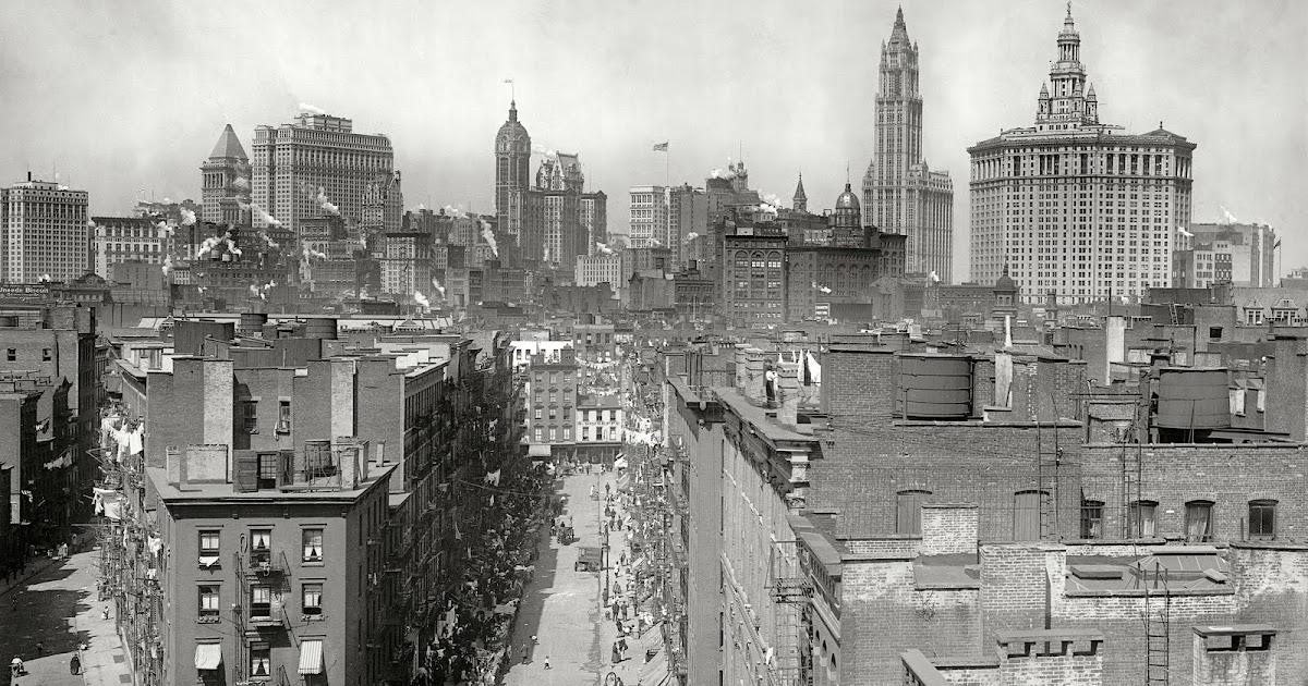 new york history geschichte manhattan skyline 1915. Black Bedroom Furniture Sets. Home Design Ideas