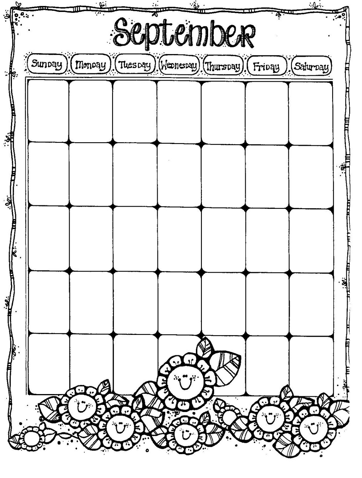 Weekly Calendar Blank Page : Blank kids february calendar new template site
